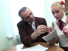 teacher is getting soaked oral pleasure