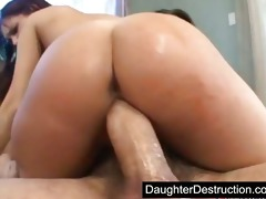 latin babe daughter screwed hard