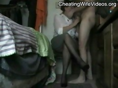 aged cheating wife drilled by her younger lover,