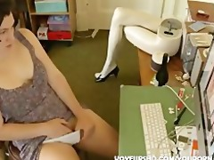 sister watching porn and masturbation