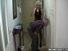 she is is tricked into 8some by his old parents