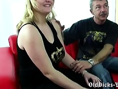 dilettante granddad with sexy blond big beautiful