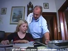italian incest blonde teen drilled by dad