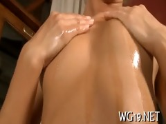 gal plays with dildo