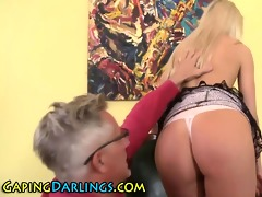 arse rimmed honey sucks old guy