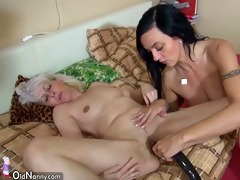 oldnanny old slim woman masturbating with