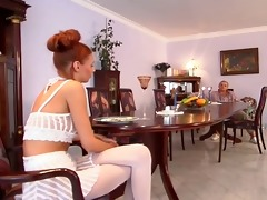 redhead hot hottie screwed by old cock...usb