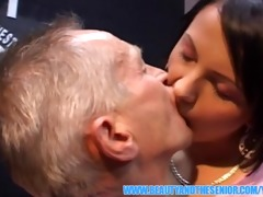 slutty old guy is fucking a charming juvenile girl