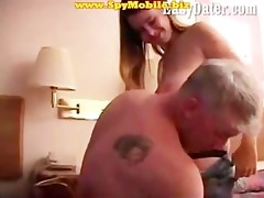 dilettante daughter enticed and fucked by old