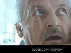 older man gustavo screwed by his stupid maid