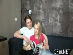 three-some legal age teenager beauties can not