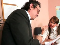 teacher is getting soaked oral-sex