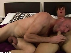 mature guy tasting new ravishing juvenile knob