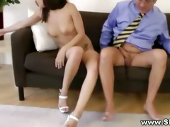 hawt juvenile hottie getting vagina drilled by