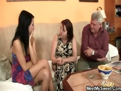 old parents fuck her as he is leaves