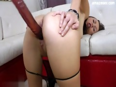 excited daughter anal fuck