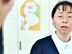 cute oriental nurse acquires her tits rubbed part4