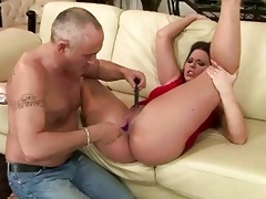 old boy toying young cunt