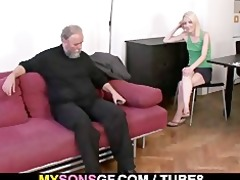 old daddy forces his sons gf engulf his pecker