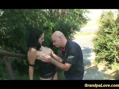 grand-dad fucking a worthy brunette hair
