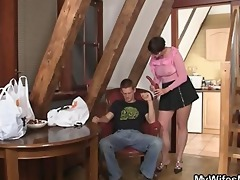 naughty mother in law jumps on his dong