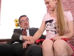 augustina receives a faceful of cum from her