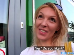 publicagent she is gets spit-roasted outdoors to