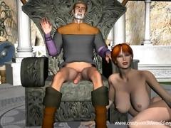10d animation: the vikings fuckfest