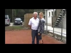 skinhead drilled bye old man by sail
