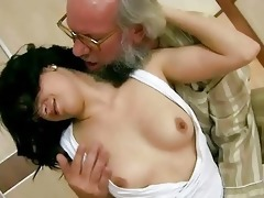 grand-dad copulates his youthful girlfriend