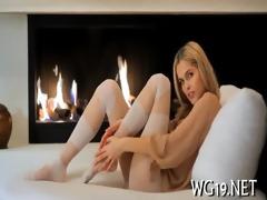 pleasing girl masturbating