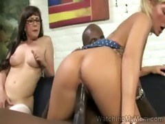 mother i and daughter team up in this interracial