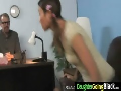 young daughter receives pounded by big dark