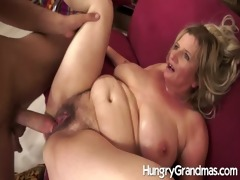 bushy granny snatch for younger man