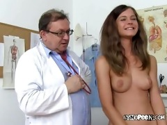 golden-haired beauty veronica for exposed medical