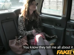faketaxi red head receives fucked throughout the