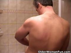 grandma fucks and sucks off granddad