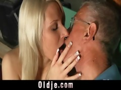 oldman blessed with a youthful muff for fuck