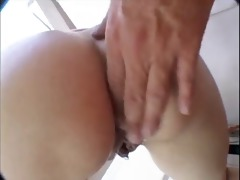 pigtail bruenette fuck by a guy