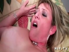 obese french cougar acquires arse drilled by a