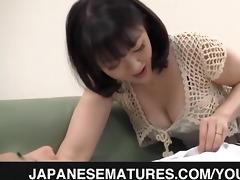 obscene mamma enjoys younger knob