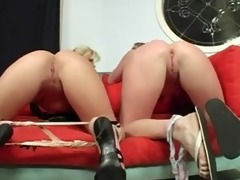 mama and step-daughter stripping and fucking