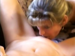 lustful mature lady receives her big titties