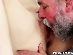 old hirsute doc does young petite