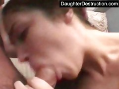 daughter face hole and vagina drilled hard