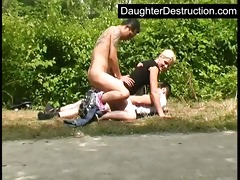 youthful legal age teenager daughter humiliate