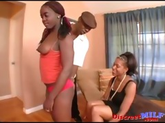 mommy and daughter group-fucked a dark dude