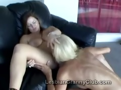 aged golden-haired lezzie erica goes naughty on