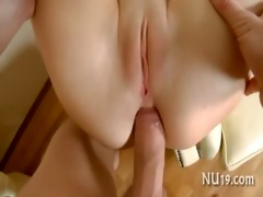 sexy cutie gives a head